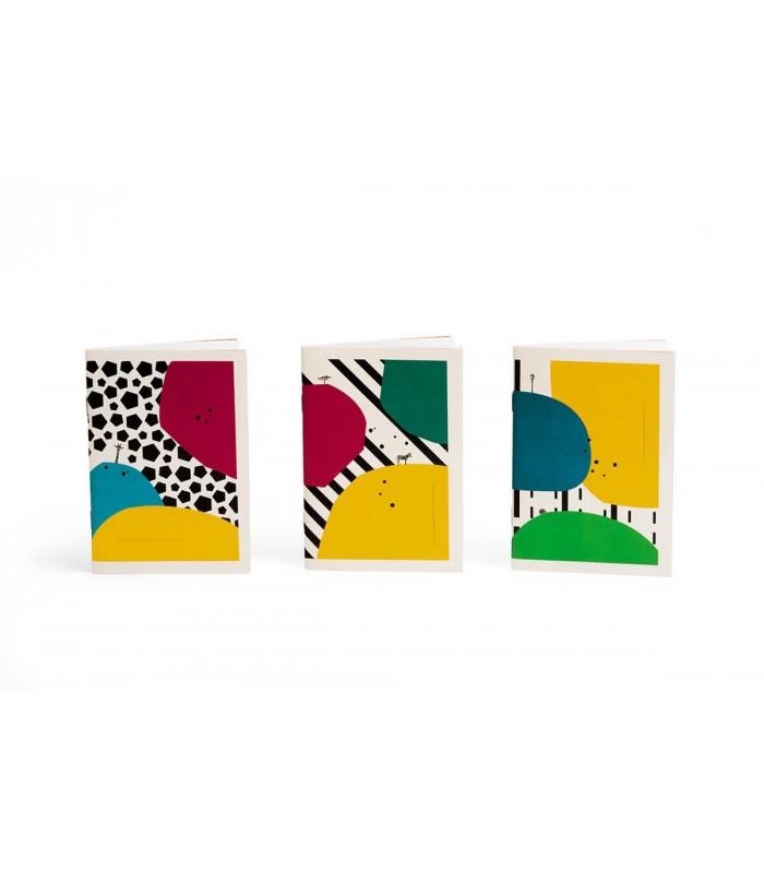 Trio de carnets monolythe Papier Merveille