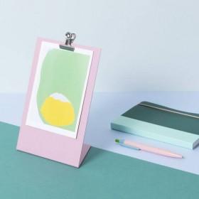 Block design - Porte carte presse-papier