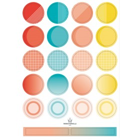 Stickers color palette - sea