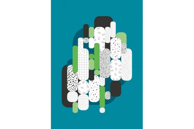 Carnet vert d'eau bleu collection capsule Papier Merveille