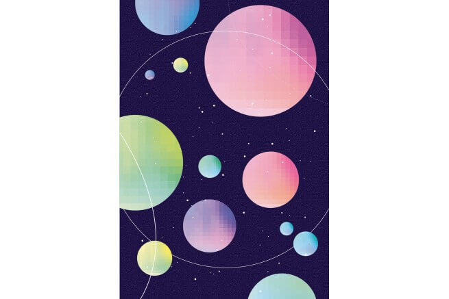 CARTE 2 VOLETS SPACE