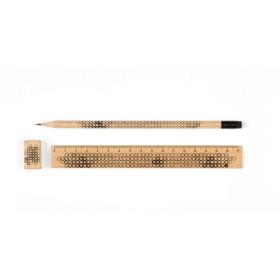 KIT : crayon à papier + règle 20 cm + taille crayon