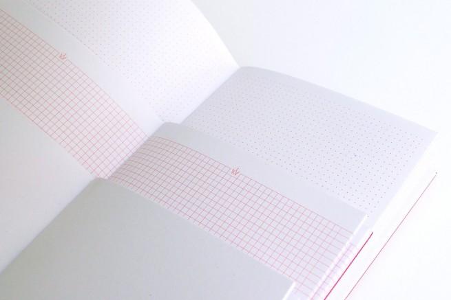 Papier à pois et papier à carreaux Trio carnets collection Arty Papier Merveille