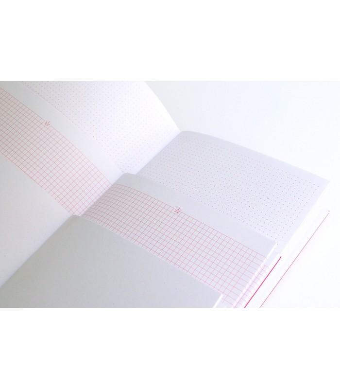 Intérieur carnet arty collection ROY Papier Merveille feuilles à pois feuilles à carreaux